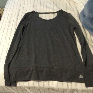 Grey Longsleeve Shirt with Back Cutout